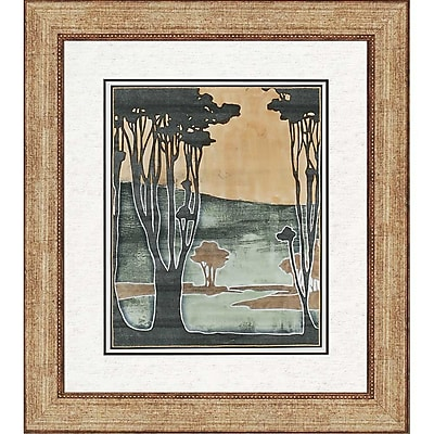 Paragon Nouveau Trees II by Goldberger Framed Painting Print