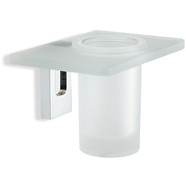 Stilhaus by Nameeks Quid Wall Mount Glass Tumbler and Tumbler Holder