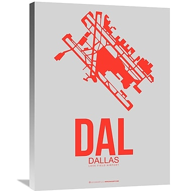 Naxart 'DAL Dallas Poster 1' Graphic Art on Wrapped Canvas; 32'' H x 24'' W x 1.5'' D