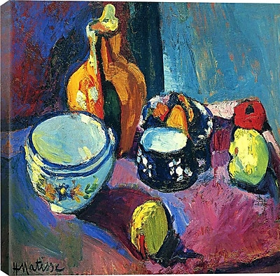 iCanvas ''Dishes and Fruit (1901)'' Canvas Wall Art by Henri Matisse; 37'' H x 37'' W x 0.75'' D