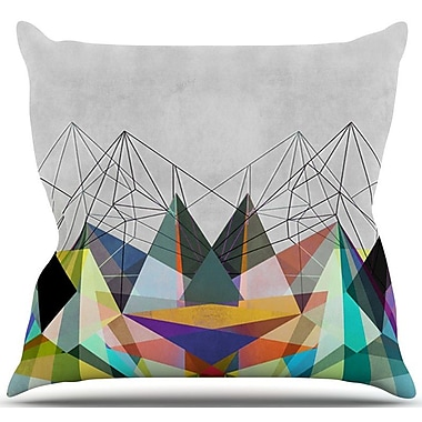 KESS InHouse Colorflash 3X Rainbow Outdoor Throw Pillow; 18'' H x 18'' W x 3'' D