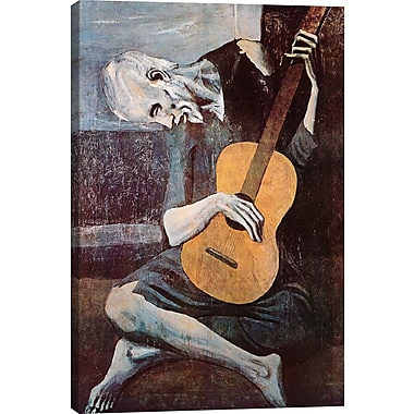iCanvas 'The Old Guitarist' by Pablo Picasso Painting Print on Wrapped Canvas