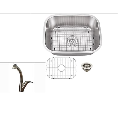 Soleil 21.5'' x 16'' Single Bowl Kitchen Sink w/ Faucet