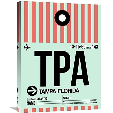 Naxart 'TPA Tampa Luggage Tag 1' Graphic Art on Wrapped Canvas; 24'' H x 18'' W x 1.5'' D