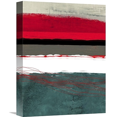 Naxart 'Abstract Stripe Theme' Graphic Art on Wrapped Canvas; 16'' H x 12'' W x 1.5'' D