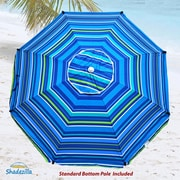 Shadezilla 8' Premium Beach Umbrella w/ Integrated Anchor and Hanging Hook