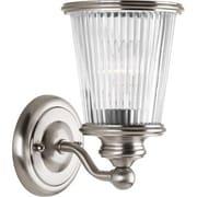 Progress Lighting Radiance 1-Light Bath Sconce; Brushed Nickel