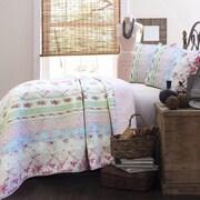Cozy Line Home Fashion Wild Rose Enchantment Quilt Set; Twin