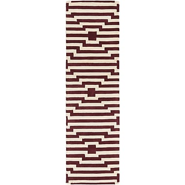 Artistic Weavers Transit Sawyer Hand-Tufted Red Area Rug; Runner 2'3'' x 10'