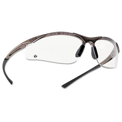 Bolle Contour Series Polycarbonate Safety Glasses, Clear Lens (286-40044)