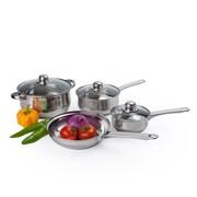 Alpine Cuisine Belly Shaped Cookware Set Stainless Steel 7-Piece (KAAI17698)