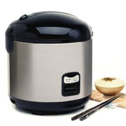 Elite 10-Cup Rice Cooker with Steam Tray, Silver (KM1000B)