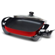 "Elite 12"" Gourmet Large Nonstick Electric Skillet, Red (KM1220GR)"
