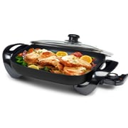 "Elite 15"" Die-Cast Aluminum Nonstick Electric Skillet, Black (KM1500)"
