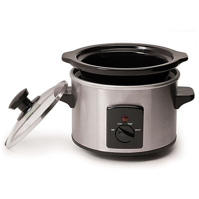 Elite 1.5-Quart Mini Slow Cooker; Silver (KM250XS)