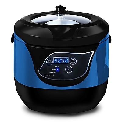 Elite 5.5-Quart Programmable Digital Pressure Cooker, Blue (KM55BL)
