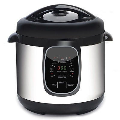 Elite 8-Quart Programmable Pressure Cooker, Silver (KM807)