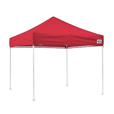 Impact Canopies Instant Pop Up Canopy Tent, 10x10, Red