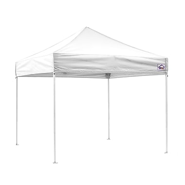 Impact Canopies Instant Pop Up Canopy Tent, 10x10, White