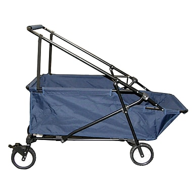 Impact Canopies Momentum Collapsible Wagon Utility Beach Cart, Blue