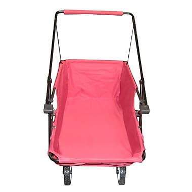 Impact Canopies Momentum Collapsible Wagon Utility Beach Cart, Red