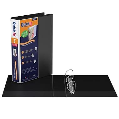 Davis QuickFitMD – Cartable de présentation robuste à anneaux en D Deluxe 9500, 2 po, noir
