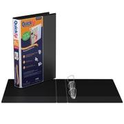 QuickFit® – Reliure de présentation de luxe robuste pour feuilles de calcul (8,5 x 14 po) anneaux en D 1,5 po, noir (95021P)