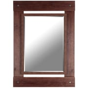 Hobbitholeco. Real Wood 30'' x 43'' Beveled Mirror; Brown
