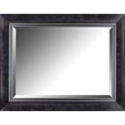 Hobbitholeco. 27.25'' x 35.25'' Liner Beveled Mirror; Black Marble