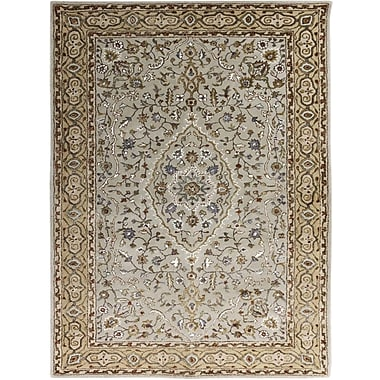 AMER Rugs Eternity Hand-Tufted Ivory and Gold Area Rug; Rectangle 2' x 3'
