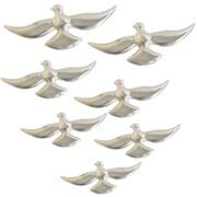 Urban Designs 7 Piece Birds In Flight Graphic Art Plaque Set; Silver