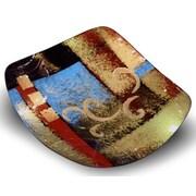 JasmineArtGlass Square Platter