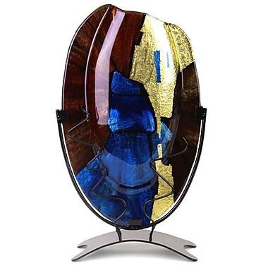 JasmineArtGlass Oval Vase