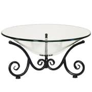 Urban Designs Decorative Iron Scroll Stand w/ Round Glass Bowl