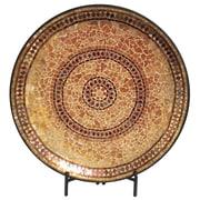 Urban Designs Decorative Mosaic Plate; Gold