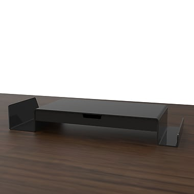 MontisaWork Monitor Stand w/ Drawer; Black