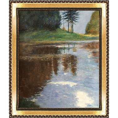 Tori Home Quiet Pond in The Park of Appeal by Gustav Klimt Framed Painting