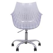 LeisureMod Ashville Desk Chair; Clear
