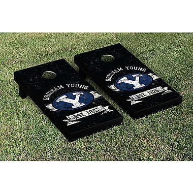 Victory Tailgate NCAA Vintage Version Banner Cornhole Game Set; Brigham Young University BYU Cougars