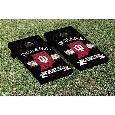 Victory Tailgate NCAA Vintage Version Banner Cornhole Game Set; Indiana IU Hoosiers
