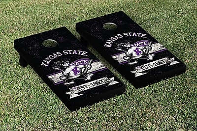 Victory Tailgate NCAA Vintage Version Banner Cornhole Game Set; Kansas State K State Wildcats WYF078278336873