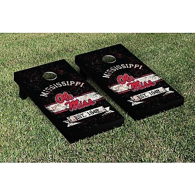 Victory Tailgate NCAA Vintage Version Banner Cornhole Game Set; Ole Miss Rebels