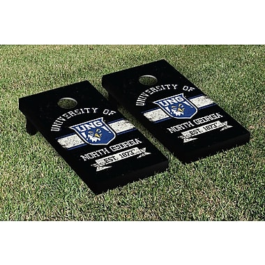Victory Tailgate NCAA Vintage Version Banner Cornhole Game Set; North Georgia Nighthawks