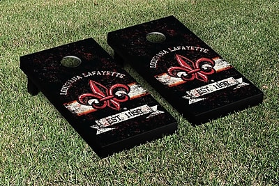 Victory Tailgate NCAA Vintage Version Banner Cornhole Game Set; Louisiana Lafayette Ragin Cajuns