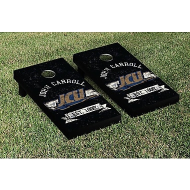 Victory Tailgate NCAA Vintage Version Banner Cornhole Game Set; John Carroll Blue Streaks