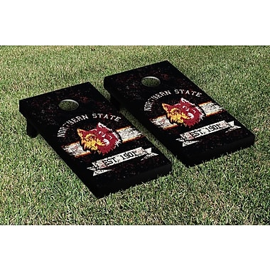 Victory Tailgate NCAA Vintage Version Banner Cornhole Game Set; Northern State University Wolves
