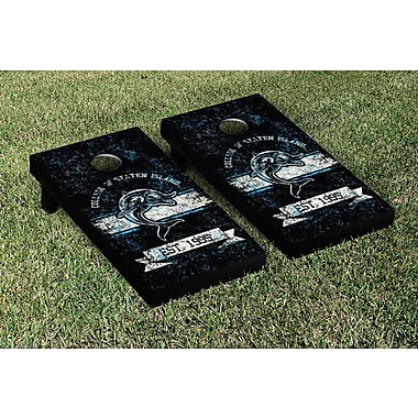 Victory Tailgate NCAA Vintage Version Banner Cornhole Game Set; Staten Island Dolphins