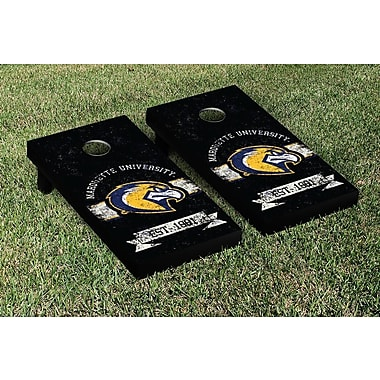 Victory Tailgate NCAA Vintage Version Banner Cornhole Game Set; Marquette Golden Eagles