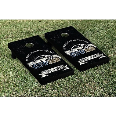 Victory Tailgate NCAA Vintage Version Banner Cornhole Game Set; California State Monterey Bay Otters