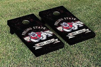 Victory Tailgate NCAA Vintage Version Banner Cornhole Game Set; California State Fresno Bulldogs